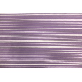 Papier indien violet rayures blanches