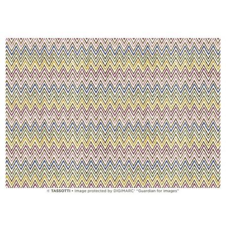 Papier Imprimé Zigzags 50 x 70 cm