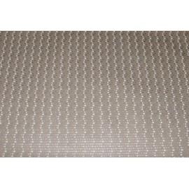 Papier Kraft fini main motifs blanc / argent