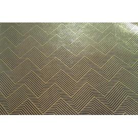 Papier fait main noir/ Feuille d'Or motif halucination