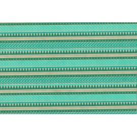 Papier fait main motif Continuum Turquoise & Or