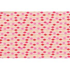 Papier fait main motif Pluie fine Rosé & Or