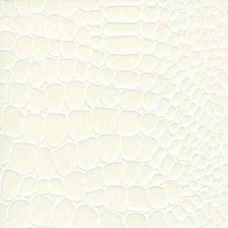 Papier cuir croco blanc 68,5x50 cm