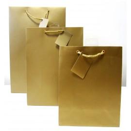 Sac cadeau uni Medium Or (x6)