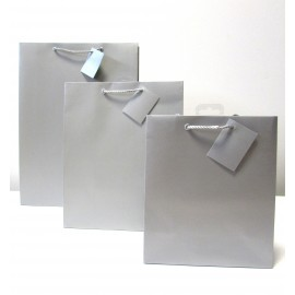 Sac cadeau uni Medium Argent (x6)