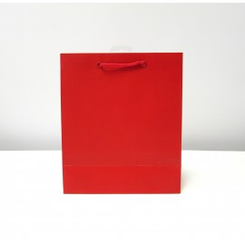 Sac cadeau uni Medium Rouge (x6)