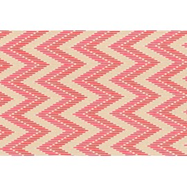 Papier fait main motif ZigZag Rouge & Or