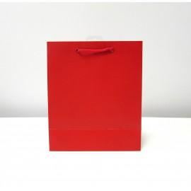 Sac cadeau uni Large Rouge (x6)