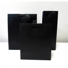 Sac cadeau uni Large Noir (x6)