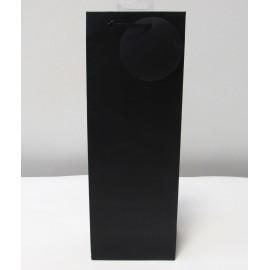 Sac cadeau uni Bouteille Noir (x6)