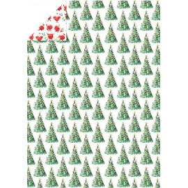 Papier imprimé MADELEINE FLOYD Sapins & Père Noël