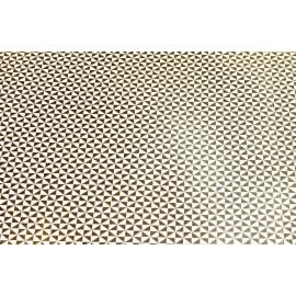 Papier fait main Ivoire Géométrique Feuille d'Or