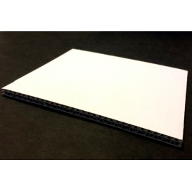Carton Ondulé Double Cannelure Blanc 6.5 mm 50x65 cm (par 25)