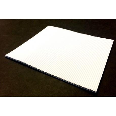 Carton Ondulé Double Cannelure Apparente Blanc 3 mm 50x65 cm (par 25)