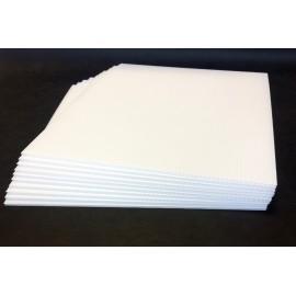 Plaque Polypropylène 550 g 50x64 cm (par 20)