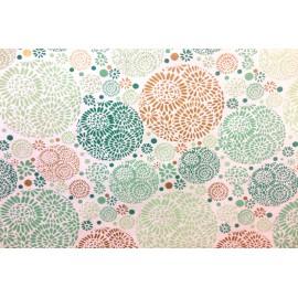 Papier fait main motif Dollop Blanc & Turquoise