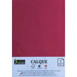 Pochette de 10 feuilles A4 de Calque Cromatico Rose Vif
