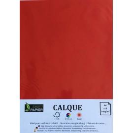 Pochette de 10 feuilles A4 de Calque Cromatico Vermillon