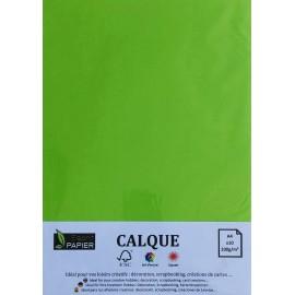 Pochette de 10 feuilles A4 de Calque Cromatico Vert Printemps
