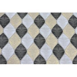 Papier Fait Main Cocoon Noir, Blanc & Or