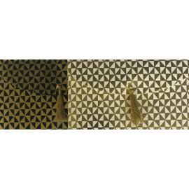 Enveloppe cadeau à pompon feuille d'or