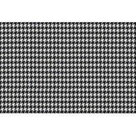 Papier Imprimé Pied de Poule Noir
