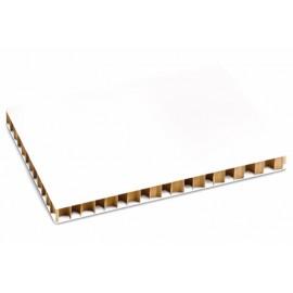 Panneau Nid d'Abeille Blanc 10 mm  70x100 cm (par 10)