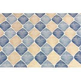Papier Fait Main Motifs Cocoon Bleu