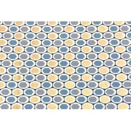 Papier Fait Main Motifs Nucleus Bleu