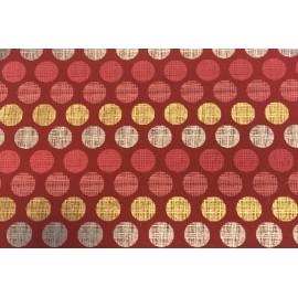 Papier Fait Main Cercle Rouge, Rose, Or & Argent
