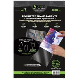12 pochettes transparentes 16 x 22 cm (par 10)