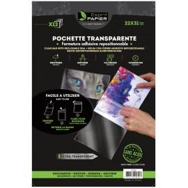 12 pochettes transparentes 22 x 31 cm (par 10)