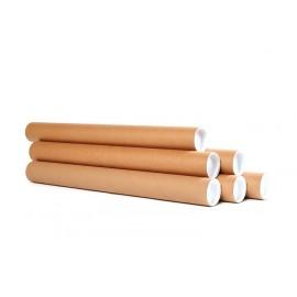 Tube de transport ou d'expédition en Kraft diam. 5 cm long. 67 cm