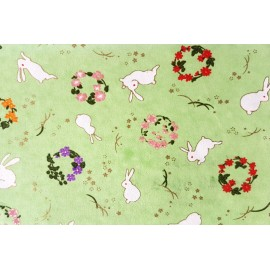 Lapins Japonais fond Vert