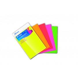 Pochette de 5 feuilles A4 de papier Bristol Fluorescent