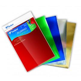 Pochette de 5 feuilles A4 de papier Bristol Aluminium