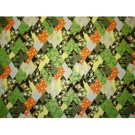 Asymétrie japonaise vert et noir