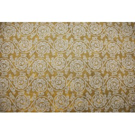 Lokta beige arabesques florales marron