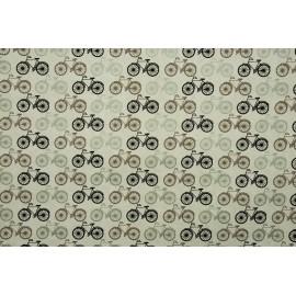 Papier fait main blanc vélos noir/argent