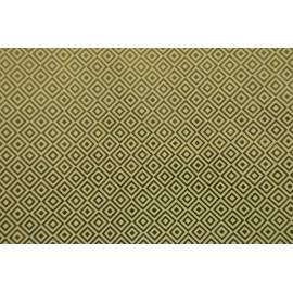 Papier fait main Ivoire/Feuille d'Or motif Diamant