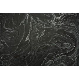 Lokta noir marbré gris