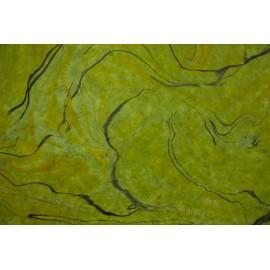 Lokta vert marbré jaune et kaki