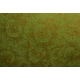 Lokta fleurs dorées sur Vert Anis