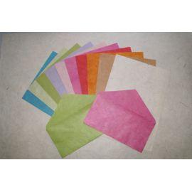 Paquet 10 enveloppes violet pastel