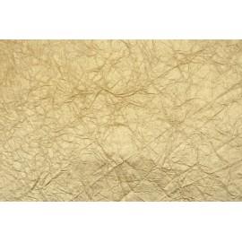 Papier métallisé froissé Or