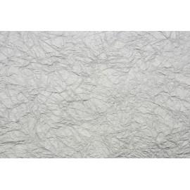 Papier métallisé froissé Argent