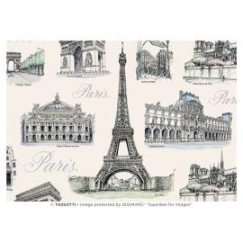 Papier imprimé Paris 50x70cm