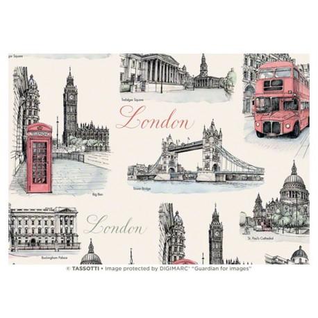 Papier imprimé Londres 50x70cm