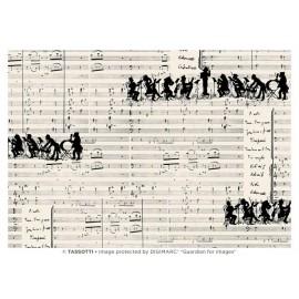 Papier imprimé Orchestre 50x70cm