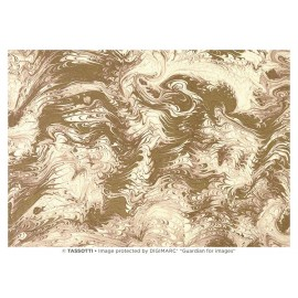 Papier imprimé Marbré écru-or 50x70cm